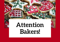 Holiday Cookie Bakers Needed