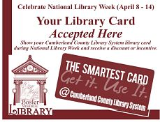 Your library card accepted here