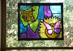 Faux stained glass art panels