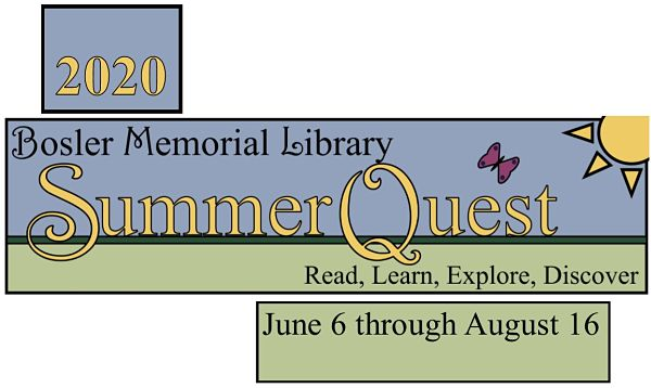 2020 Bosler Memorial Library SummerQuest -- Read, Learn, Explore, Discover -- June 6 through August 16