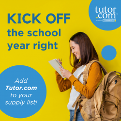 Kick off the school year right - Add Tutor.com to your supply list!