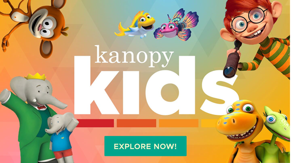 Kanopy home page example image