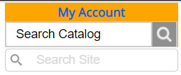 My Account login - Search Catalog - Search Site