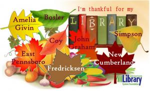 I'm Thankful for My Library!