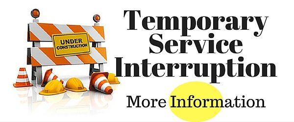 Slideshow Banner - Temporary Services Interruption