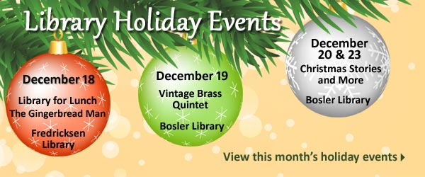 Library Holiday Events 2014