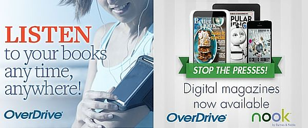 Listen to your books, any time, anywhere! OverDrive ... Stop the Presses! Digital Magazines now available - OverDrive