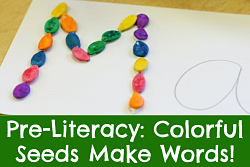 Pre-Literacy: Colorful Seeds Make Words