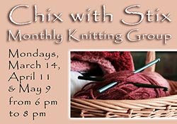 Knitting image with dates and times