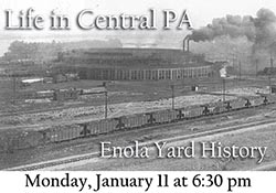 Black and white photo of Enola Yard