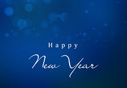 Happy New Year Blue Graphic