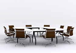 Picture of meeting room table