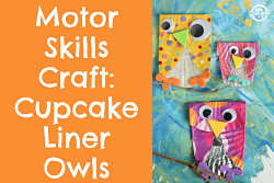 Owls crafted from cupcake liners