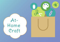 Paper bag with crafting supplies