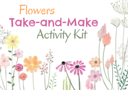 """Spring Flowers with text """"Take and Make"""""""