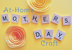 Scrabble Tiles spelling out Mother's Day