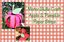 pumpkin and apple made of paper strips