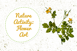 Flower with words Nature Activity Flower Art