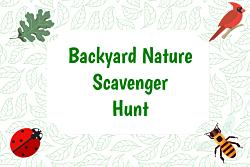 Backyard scavenger hunt