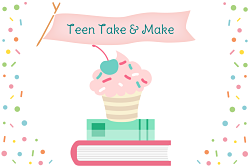 cupcake and sprinkles with book