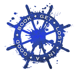 """Ship wheel that says """"get lost in a good book"""""""