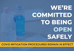 Open Safely COVID Mitigation Measures in Effect