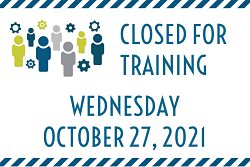 People icons with closed October 27 2021