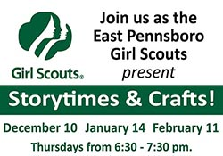 Girl Scout logo with event information