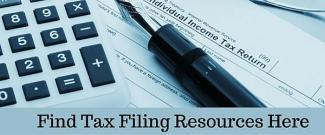 Find Tax Filing Resources Here