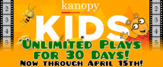 Kanopy Kids - Unlimited Plays for 30 Days!
